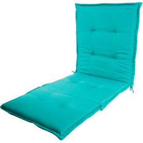 Подушка для шезлонга голубая 165х65х5 см, полиэстер