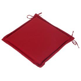 Подушка для стула красная 43х43 см, полиэстер