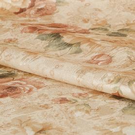 Ткань «Цветы интерио» 1 п/м 150 см цвет красный