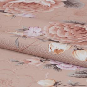 Ткань «Цветы» 1 п/м 280 см блэкаут цвет красный