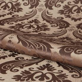 Ткань «Вензель» 1 п/м 145 см жаккард цвет коричневый
