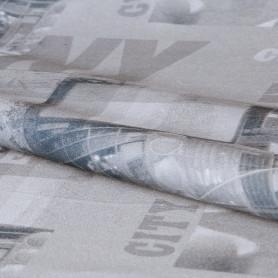 Ткань «Город-газета» 1 п/м 280 см цвет серый