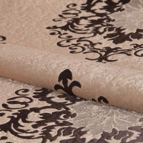 Ткань «Вензель» 1 п/м 280 см блэкаут цвет коричневый
