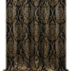 Ткань 1 п/м 280 см жаккард цвет коричневый