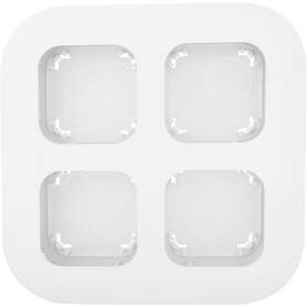 Установочный блок Legrand Quteo 4 поста открытого монтажа, цвет белый