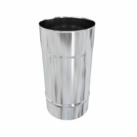 Дымоход 120x0.5 мм 0.25 м нержавеющая сталь