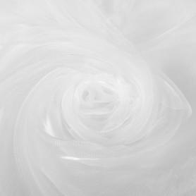 Тюль 1 п/м 300 см органза цвет белый