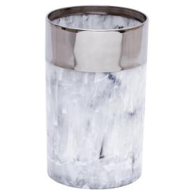 Стакан для зубных щёток настольный «Allure» полистирол цвет серый