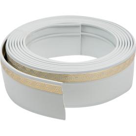 Бленда 350 см пластик цвет белый золото