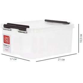 Контейнер Rox Box 21х17x10.5 см, 2.5 л, пластик цвет прозрачный  с крышкой
