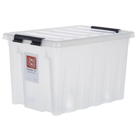 Контейнер Rox Box 60х40x36 см, 70 л, пластик цвет прозрачный  с крышкой с роликами