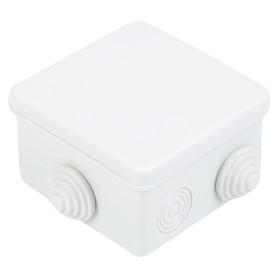 Коробка распределительная TDM 80х80х50 мм цвет серый, IP54