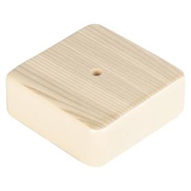 Коробка распределительная TDM 75х75х28 мм цвет дерево, IP40