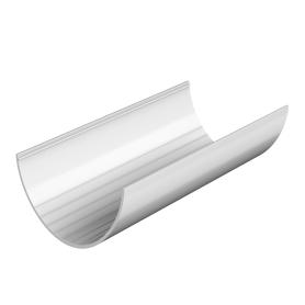 Желоб водосточный 125x3000 мм цвет белый