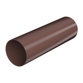 Труба водосточная 82x3000 мм цвет коричневый