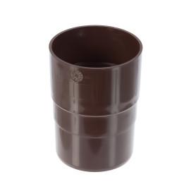 Муфта для водосточной трубы 82 мм цвет коричневый