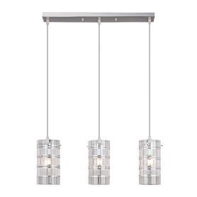 Светильник подвесной Eurosvet Аксиома 9464/3, 3 лампы, 15 м², цвет хром
