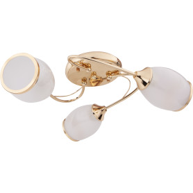 Люстра Эвита 3xE27x60 Вт, металл/стекло, цвет золото/белый