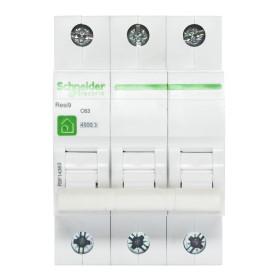 Выключатель автоматический Schneider Electric Resi9 3 полюса 63 A