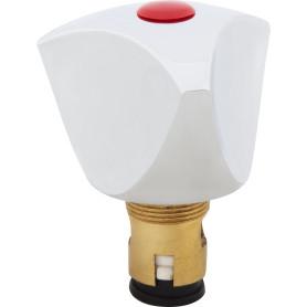 Головка вентильная, керамическая, М18х1, латунь, цвет хром