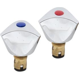 Головка вентильная, керамическая, М18х1, цвет хром, 2 шт.