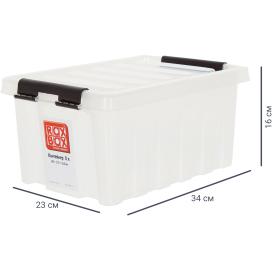 Контейнер Rox Box 8 л, прозрачный с крышкой