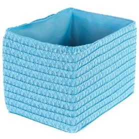 Короб без крышки S 21х16х16 см, плетенье, цвет голубой