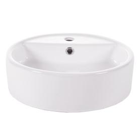 Раковина накладная Salsa Basin, керамика, 44 см, цвет белый