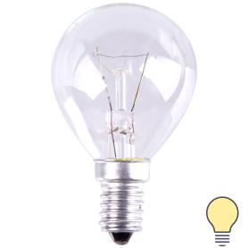 Лампа накаливания шар E14 25 Вт свет тёплый белый