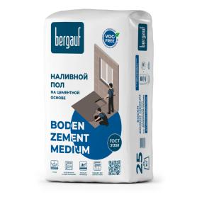 Наливной пол Bergauf Boden Zement Medium 25 кг