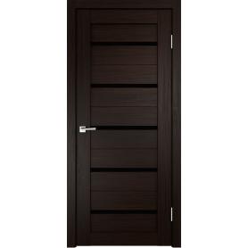 Дверь межкомнатная остеклённая Дюплекс/Фортуна 60x200 см, ПВХ, искусственный шпон, цвет венге