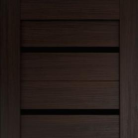Дверь межкомнатная остеклённая Дюплекс/Фортуна 80x200 см, ПВХ, искусственный шпон, цвет венге