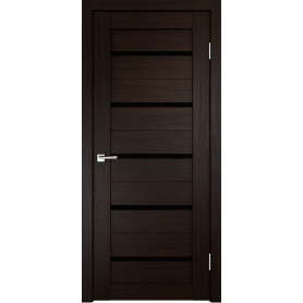 Дверь межкомнатная остеклённая Дюплекс/Фортуна 90x200 см, ПВХ, искусственный шпон, цвет венге