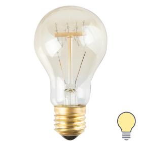 Лампа накаливания Uniel Vintage груша E27 60 Вт 300 Лм свет тёплый белый