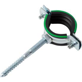 Хомут с резиновым уплотнителем и шурупом 32-35 мм