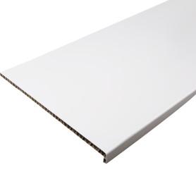 Подоконник ПВХ 500x3000 мм, цвет белый