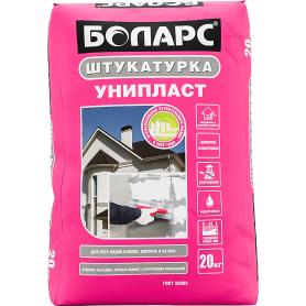 Штукатурка цементная Боларс Унипласт для блоков, кирпича и бетона 20 кг