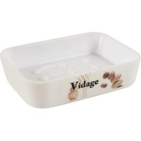 Мыльница настольная Vidage «Курумы» пластик цвет белый