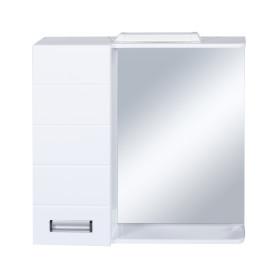 Шкаф зеркальный «Венто» 70 см цвет белый