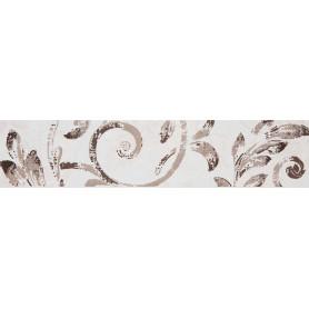 Бордюр «Флориан» 27.5х6.2 см цвет белый