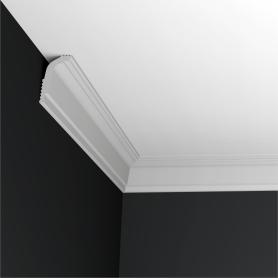 Плинтус для натяжных потолков экструдированный полистирол белый Inspire 06011А 3х5х200 см