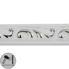 Молдинг настенный полистирол Decomaster 130-60 белый 1х1.5х200 см