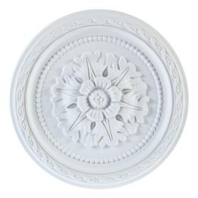 Розетка потолочная полиуретан Decomaster DM-0291 белая диаметр 29 см