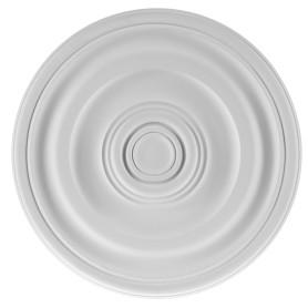 Розетка потолочная полиуретан Decomaster DM-0400 белая диаметр 30 см