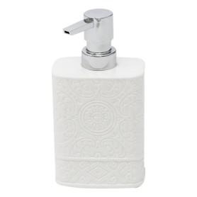 Дозатор настольный для жидкого мыла «Ажур», керамика, цвет белый