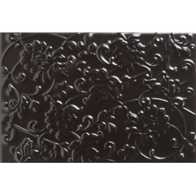 Плитка настенная «Аджанта цветы» 20х30 см 1.2 м2 цвет чёрный
