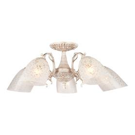 Люстра Eurosvet Ева 22010/5, 5 ламп, 25 м², цвет белый/золото