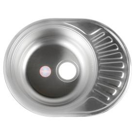 Мойка врезная 57х45 см глубина 16 см, нержавеющая сталь, цвет серебристый