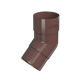 Колено круглое 135° цвет коричневый