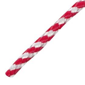 Шнур спирального плетения Standers 6 мм, 20 м, полипропилен, цвет белый/красный